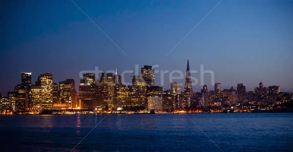 san francisco skyline at night Stock photo © aspenrock