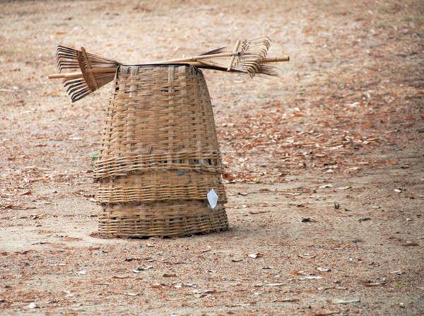 Stro thai landelijk stilleven exemplaar ruimte bladeren Stockfoto © aspenrock