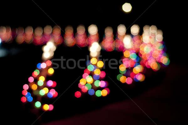 Noel ağacı soyut star ışıklar Noel dekorasyon Stok fotoğraf © aspenrock