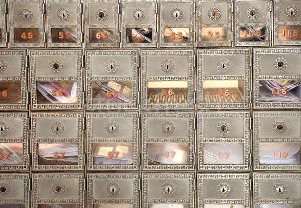 メタリック ボックス ボックス メール キー ストックフォト © aspenrock