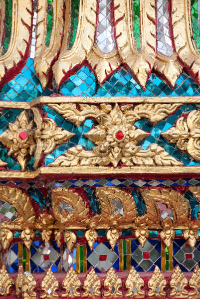 intricate mosaic detail from a thai buddhist temple Stock photo © aspenrock