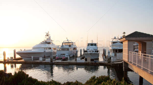 luxury yachts bathed in the morning light Stock photo © aspenrock