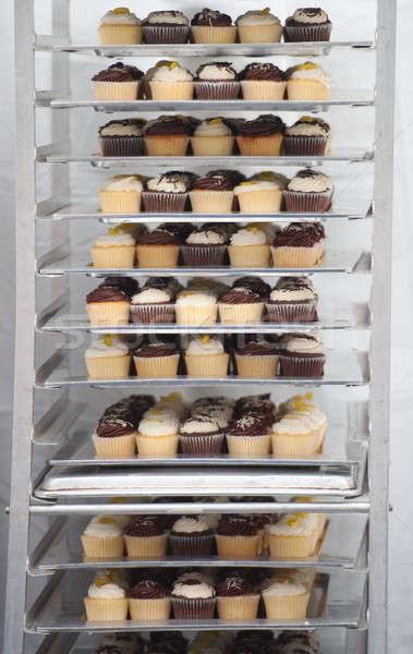 Taze hazır çikolata kek Stok fotoğraf © aspenrock