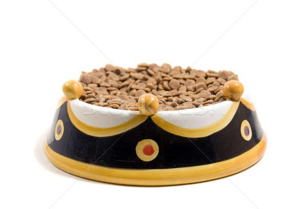 Uygun kral gıda köpek beyaz Stok fotoğraf © aspenrock