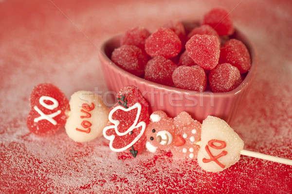 バレンタイン 中心 愛 楽しい ストックフォト © aspenrock