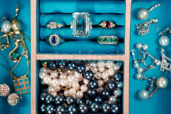expensive pieces of precious gemstone jewelry Stock photo © aspenrock