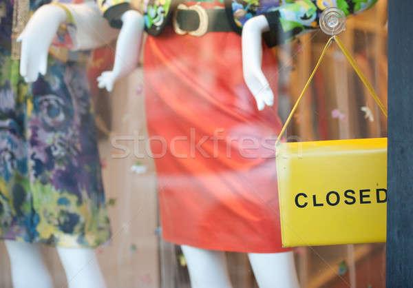 Tienda cerrado bolso utilizado signo Foto stock © aspenrock