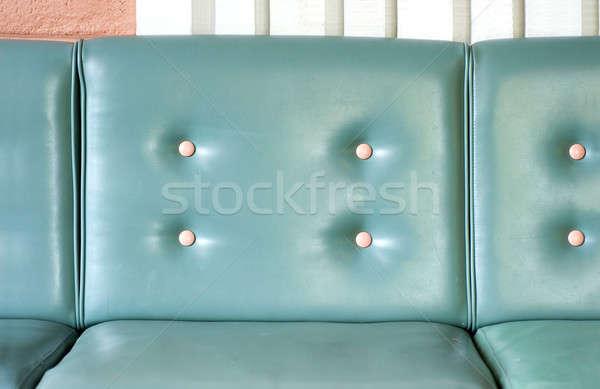 レトロな 座席 空 青 ソファ 白 ストックフォト © aspenrock