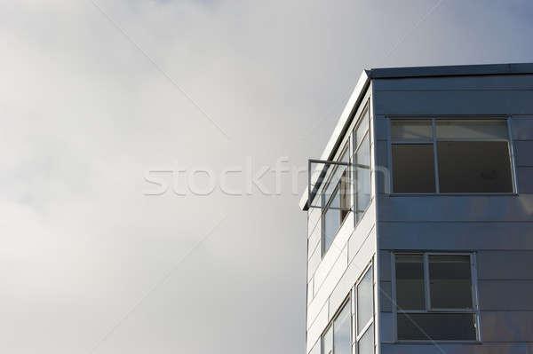 オープン ウィンドウ 考え グレー メタリック 建物 ストックフォト © aspenrock