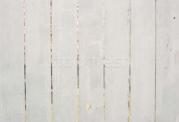 後ろ 白 フェンス 塗料 木製 ストックフォト © aspenrock