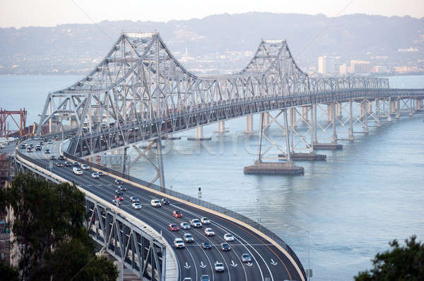 driving across the s bend of the san francisco bay bridge Stock photo © aspenrock