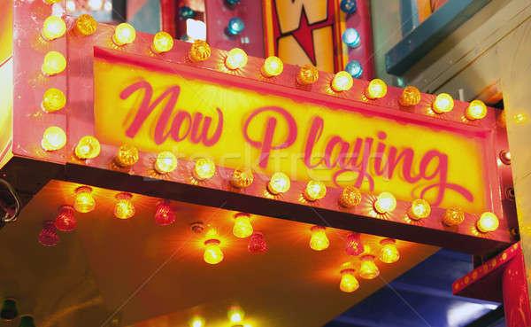 Imzalamak karnaval şimdi oynama tiyatro Stok fotoğraf © aspenrock