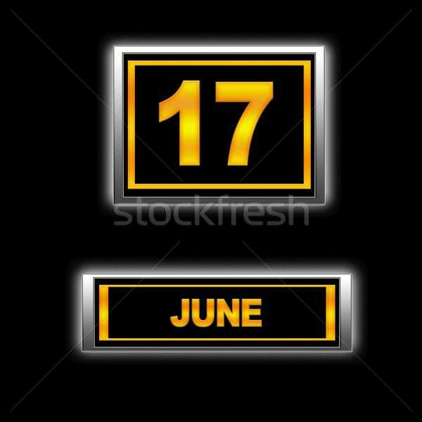 17 illustratie kalender onderwijs zwarte agenda Stockfoto © asturianu