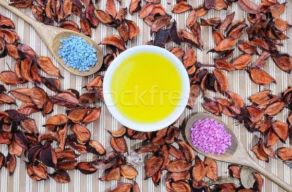 Natural body oil and bath salts. Stock photo © asturianu
