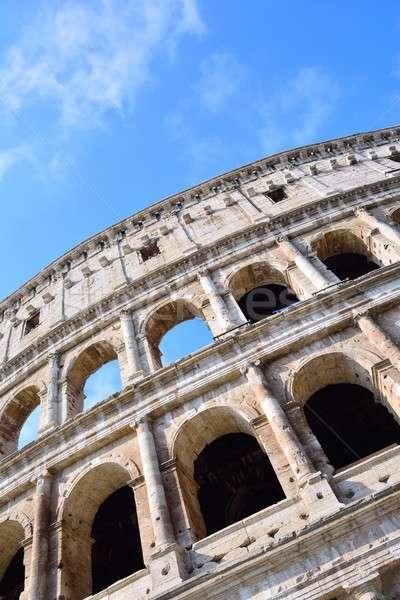 Colosseum görmek şehir mimari stadyum kültür Stok fotoğraf © asturianu