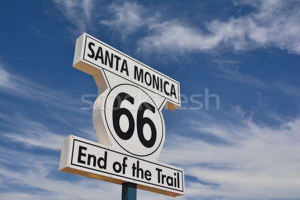 End of Route 66 in Santa Monica, California. Stock photo © asturianu