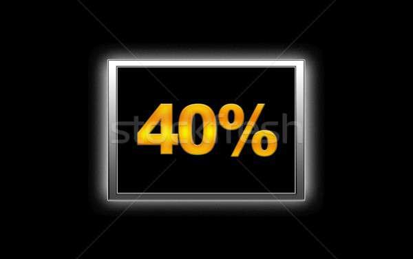 40 árengedmény illusztráció megvilágított felirat háttér Stock fotó © asturianu