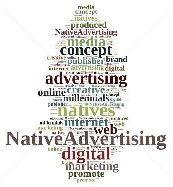 ネイティブ 広告 実例 言葉の雲 インターネット 抽象的な ストックフォト © asturianu