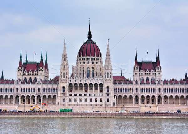 Parlament budynku Budapeszt Węgry panorama widoku Zdjęcia stock © asturianu