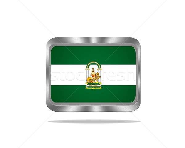 Metal Andalusia flag. Stock photo © asturianu