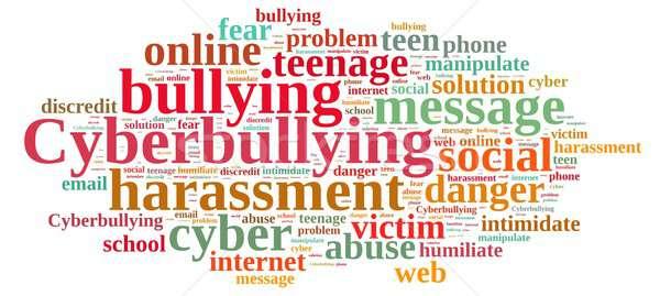 Stock photo: Cyberbullying.