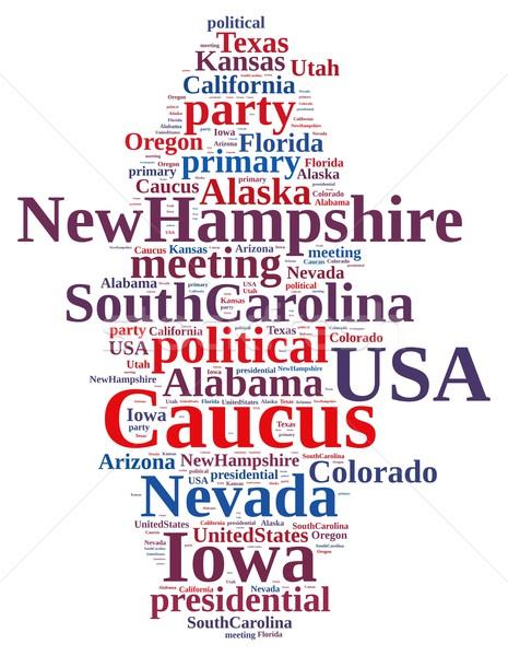 Foto stock: Nuvem · da · palavra · ilustração · festa · votar · eleição · Alabama
