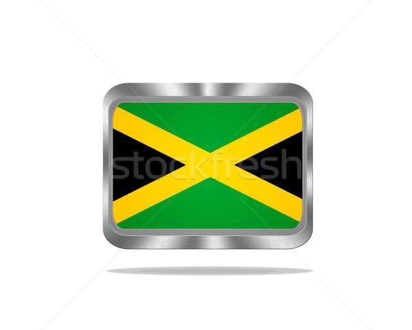 Stockfoto: Metaal · Jamaica · vlag · illustratie · witte · frame