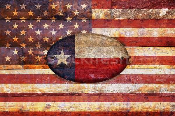 Wooden flag of Texas. Stock photo © asturianu
