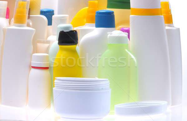 Stock photo: Jars personal care.