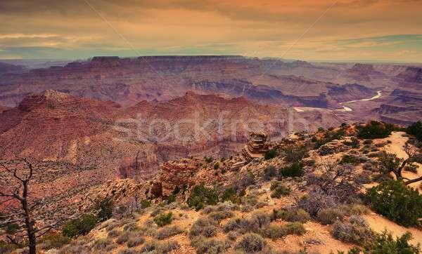 南 リム グランドキャニオン アリゾナ州 日没 岩 ストックフォト © asturianu