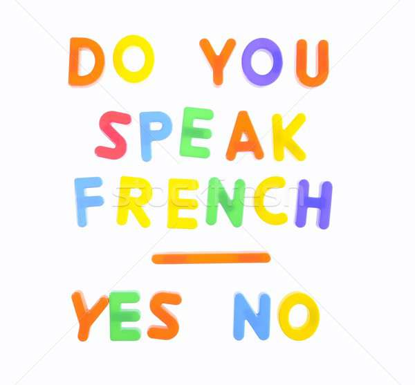 Konuşmak fransız harfler ifade seyahat öğretmen Stok fotoğraf © asturianu