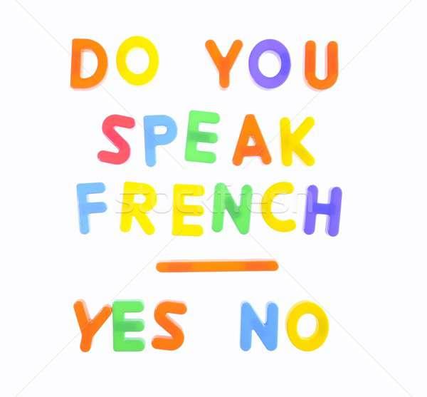 Stock photo: Do you speak french.