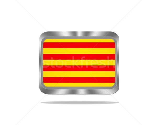 Metal Catalonia flag. Stock photo © asturianu