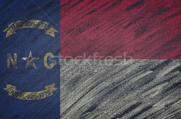 Észak-Karolina zászló festett színes kréta iskolatábla Stock fotó © asturianu