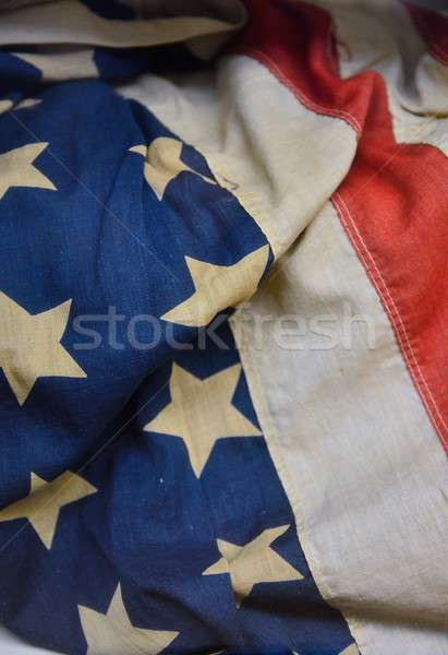 A old worn US flag. Stock photo © asturianu