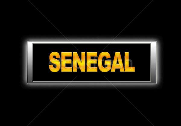 Szenegál megvilágított felirat háttér vidék vakáció Stock fotó © asturianu