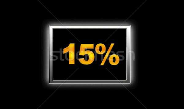 15 korting illustratie verlicht teken achtergrond Stockfoto © asturianu