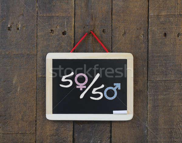 Nem egyenlőség iskolatábla feliratok textúra szex Stock fotó © asturianu
