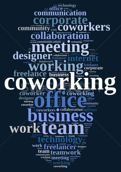 Nuvem da palavra ilustração palavra negócio trabalhar projeto Foto stock © asturianu