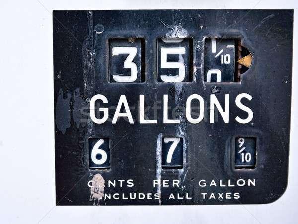 Eski paslı amerikan panel fiyat Stok fotoğraf © asturianu