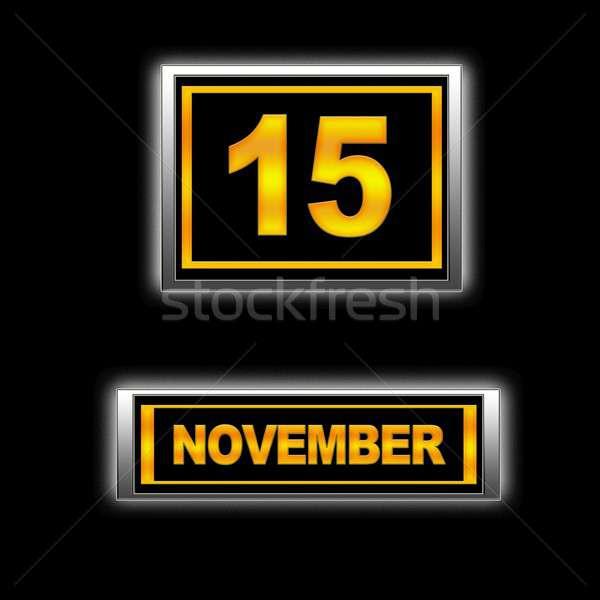 15 illusztráció naptár oktatás fekete terv Stock fotó © asturianu