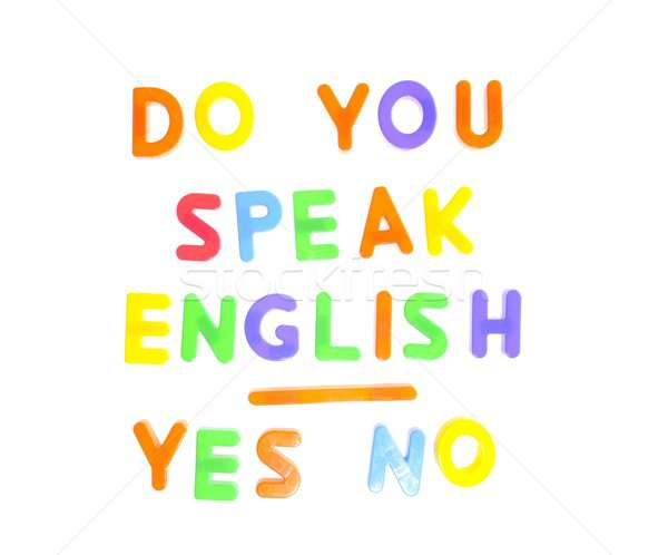 Do you speak english. Stock photo © asturianu