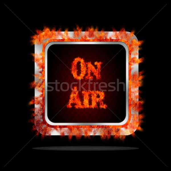 On air burning button. Stock photo © asturianu