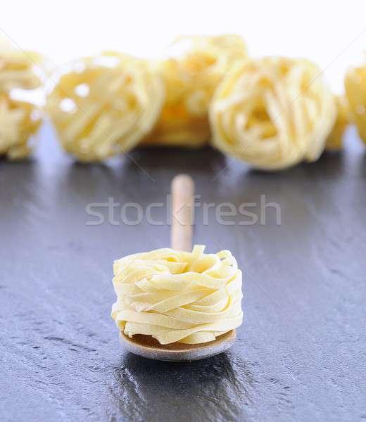Tagliatelle lepel keukentafel pasta koken kok Stockfoto © asturianu