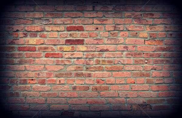 Old red brick wall texture. Stock photo © asturianu