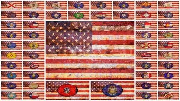 USA and states flags.  Stock photo © asturianu