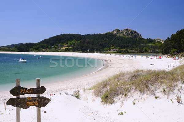 Eilanden Spanje park galicië strand water Stockfoto © asturianu