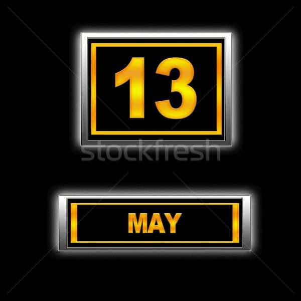 13 illusztráció naptár terv fekete napló Stock fotó © asturianu