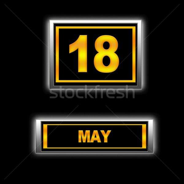 18 illustratie kalender onderwijs zwarte vakantie Stockfoto © asturianu