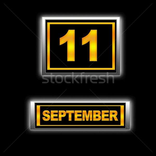 9月11日 実例 カレンダー 教育 黒 議題 ストックフォト © asturianu